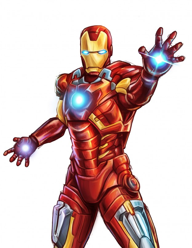 624x809 iron man colors collection of iron man drawing easy with color