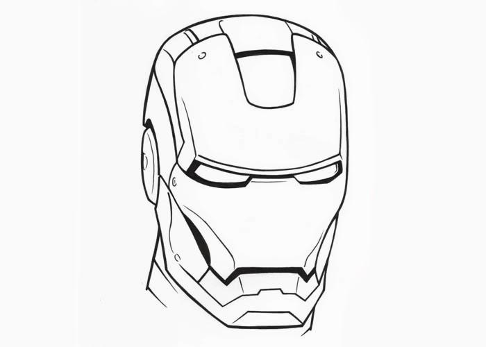 Iron Man Head Drawing