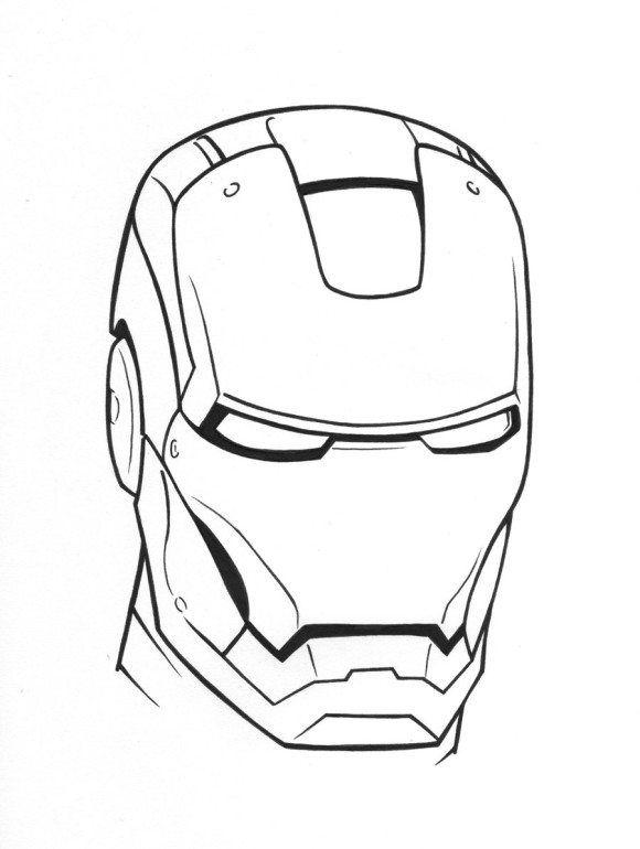 580x770 iron man helmet coloring pages drawings iron man helmet