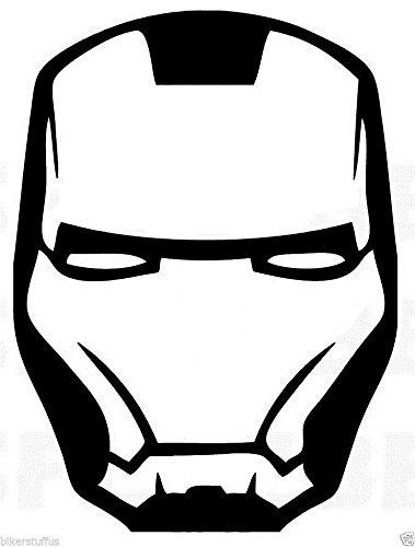 379x500 iron man mask bumper sticker cars sticker tool box