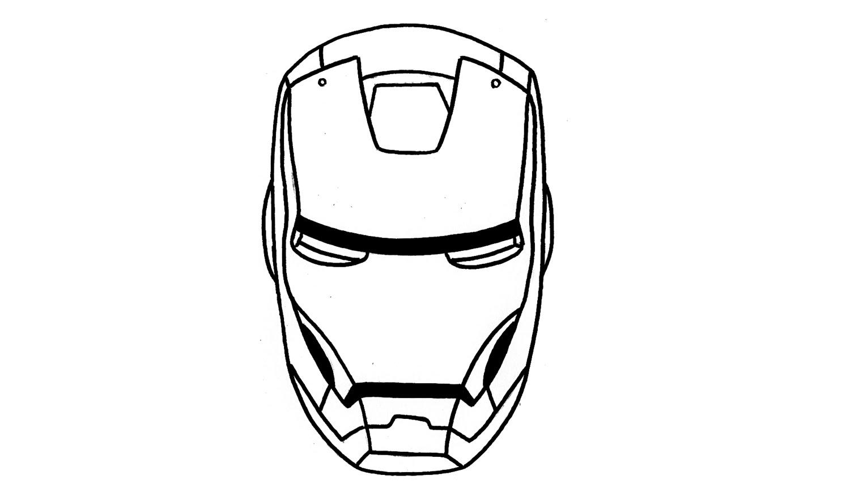 Iron Man Mask Drawing