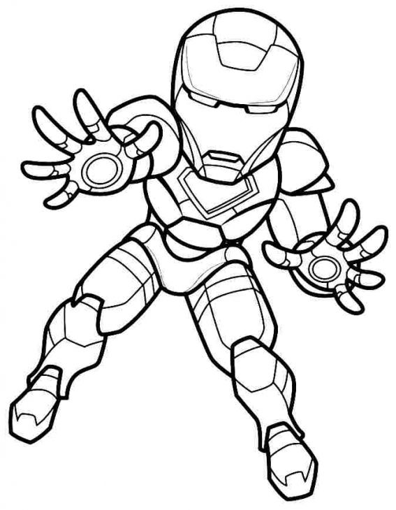 Iron Man Outline Drawing