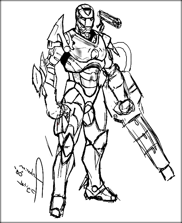 600x736 Iron Man Coloring Pages For Kids