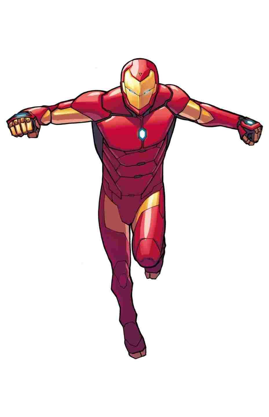 929x1438 Iron Man Drawing Colored Full Body