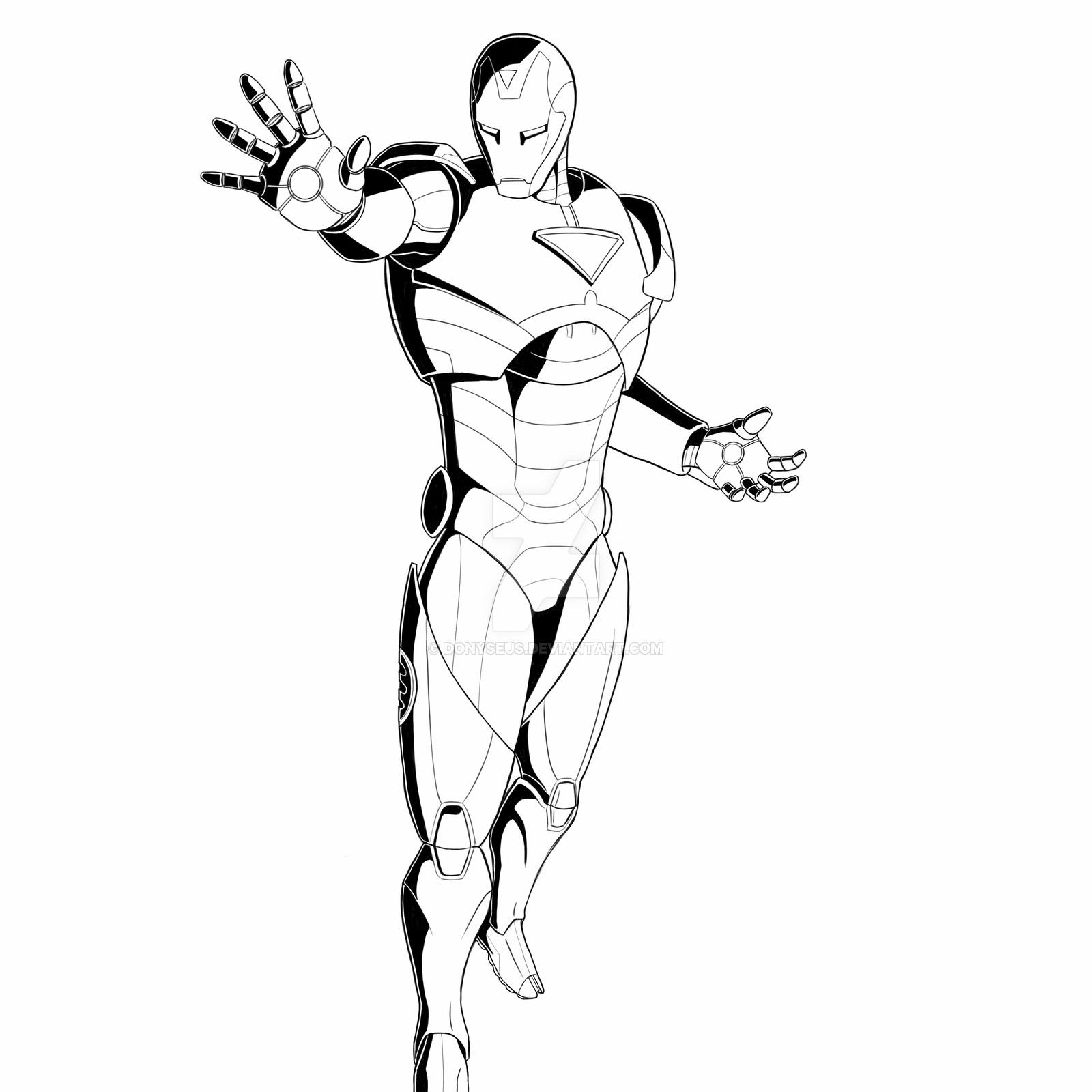 1600x1600 Iron Man Extremis Suit Inked