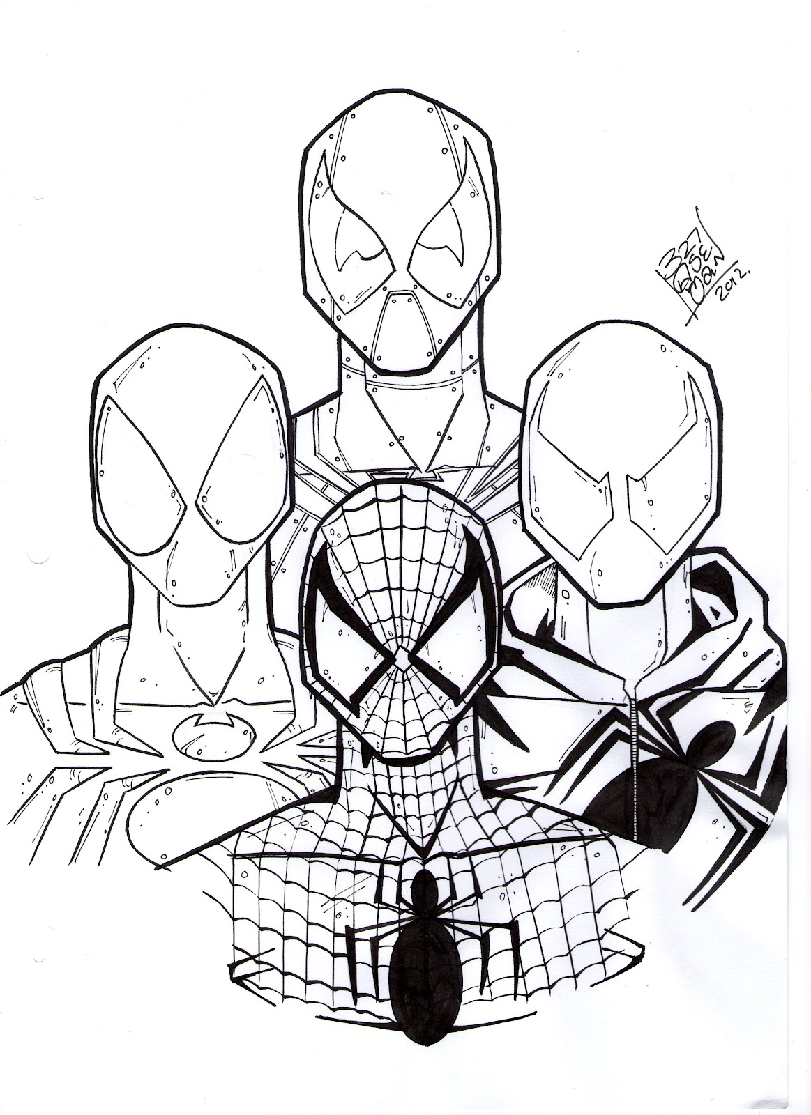 1163x1600 How To Draw Spiderman Coloring