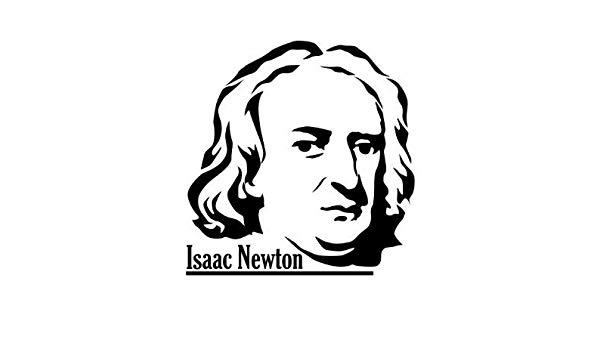 600x350 wall tattoo isaac newton, sticker physicist, researchers sticker