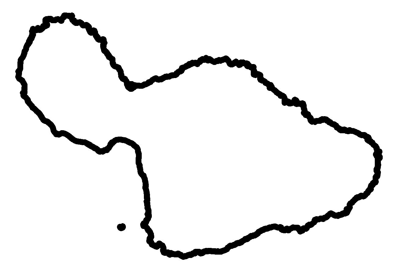Island Map Drawing