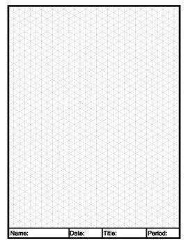 270x350 isometric graph paper in isometric drawing graph paper