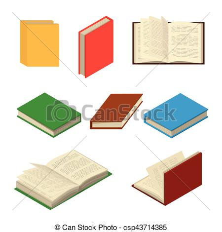 450x470 isometric colorful books set set of colorful books and tutorials