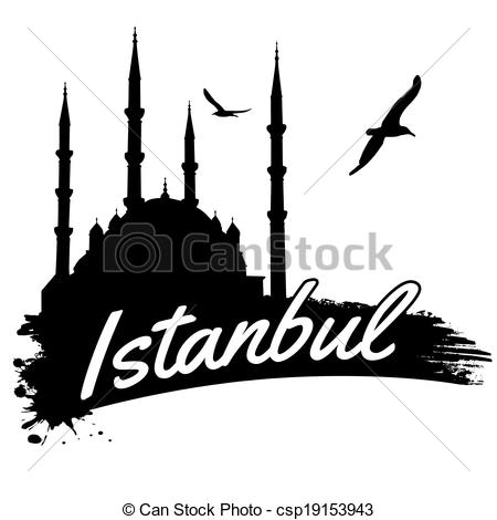 450x470 istanbul poster istanbul in vitage style poster, vector illustration