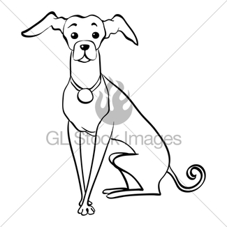 325x325 Vector Sketch Funny Italian Greyhound Dog Sitting Gl Stock Images