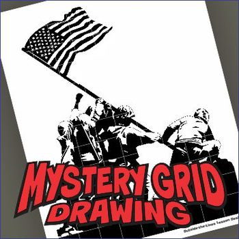 350x350 Mystery Grid Drawing Art Project