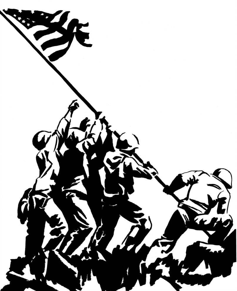 807x990 Raising The Flag On Iwo Jima