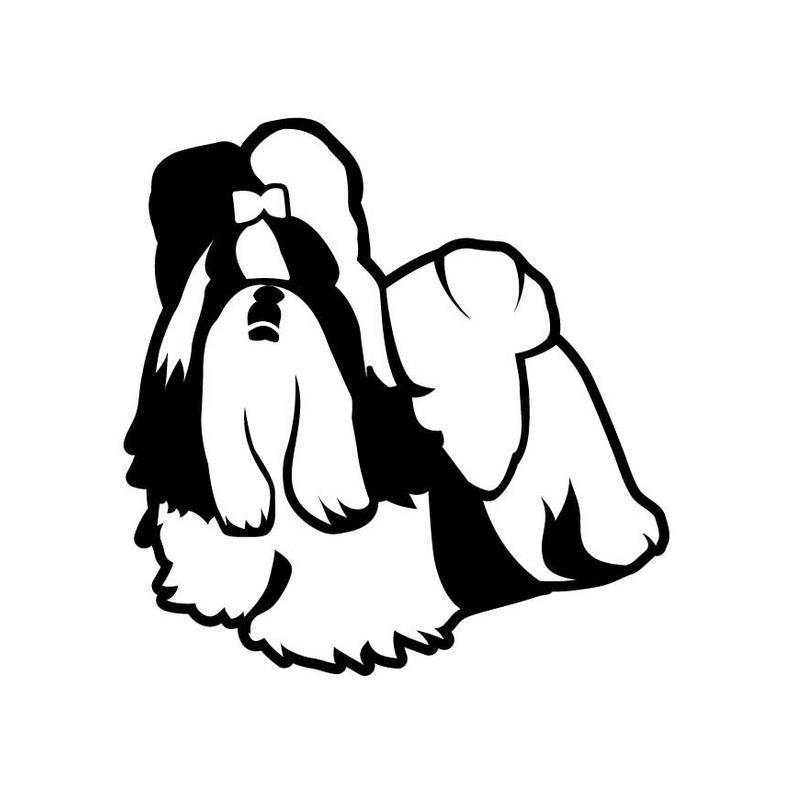 794x794 Shitzu Dog Puppy Vector Dxf Vinyl Cutter Etsy