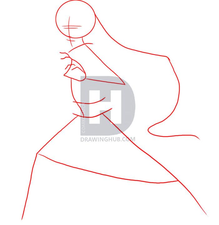 701x720 How To Draw Darth Maul, Step