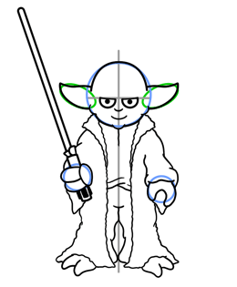 260x315 How To Draw Yoda From Star Wars