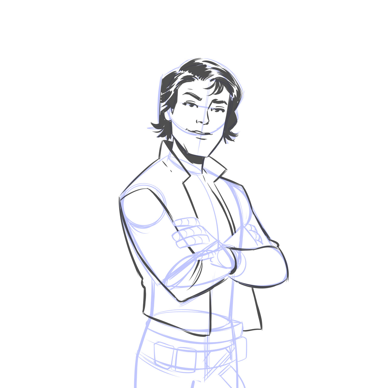 1280x1280 Elsa Charretier Teaches Us How To Draw Han Solo