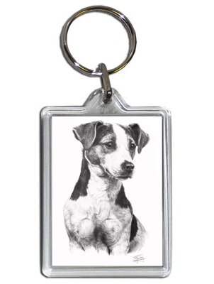 302x400 mike sibley jack russell terrier dog keyring