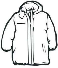 236x279 coloring jacket winter jacket drawing google