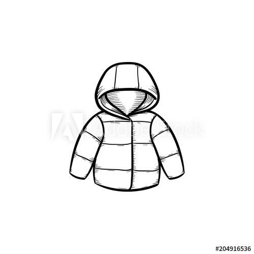 500x500 child coat hand drawn outline doodle icon warm child coat