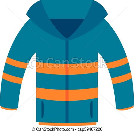 450x442 winter jacket icon, flat style winter jacket icon flat