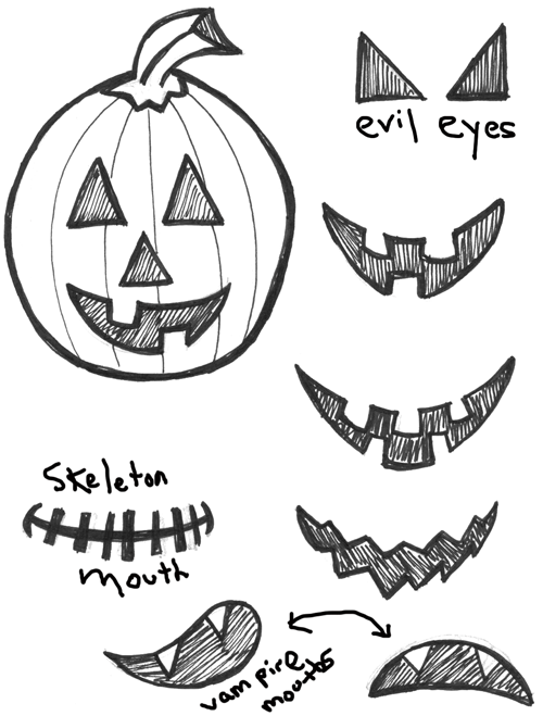 500x659 How To Draw Jack O'lanterns And Pumpkins With Easy Step