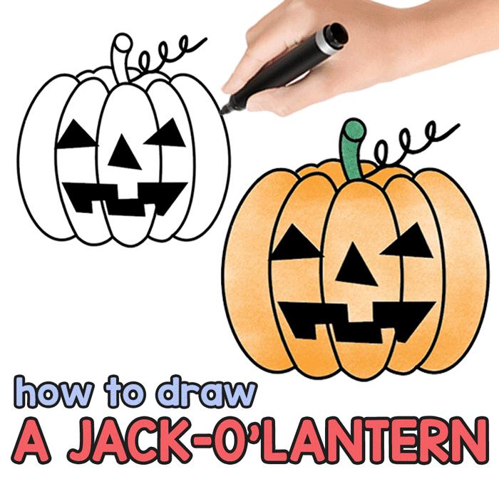 700x700 How To Draw A Jack O'lantern