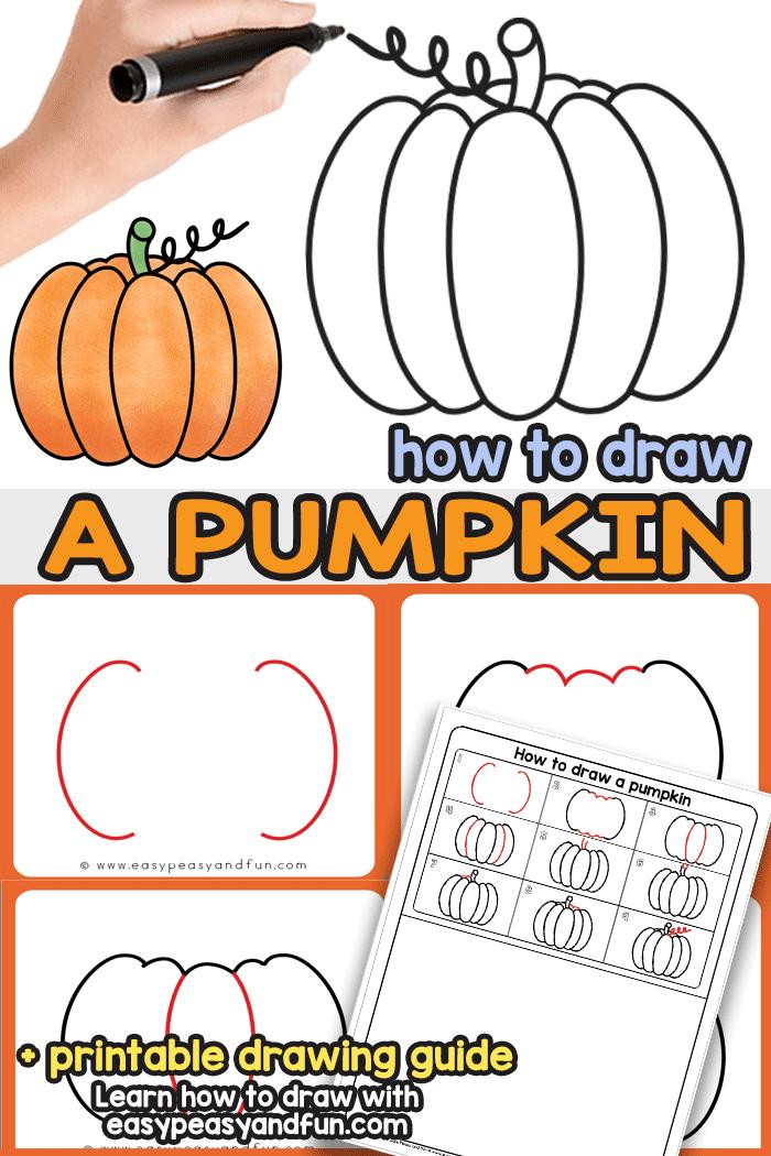 700x1050 How To Draw A Pumpkin