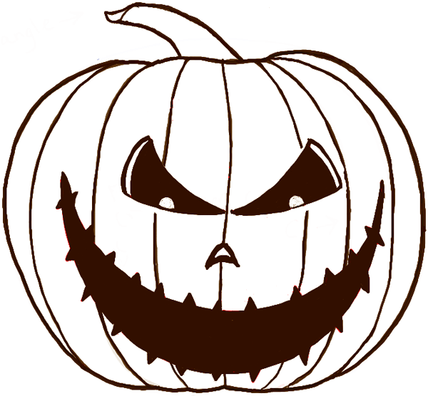 600x556 How To Draw A Scary Pumpkin Jack O Lantern In Easy Steps