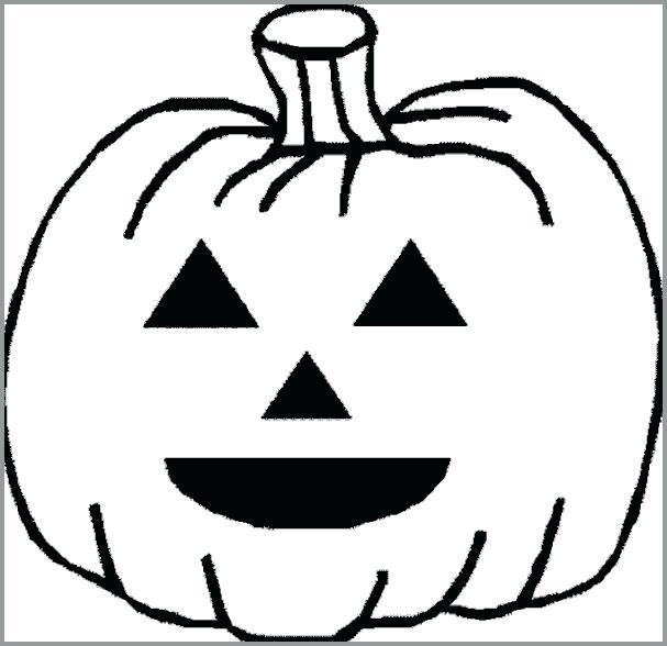 607x588 Halloween Pumpkin Drawing For Kids