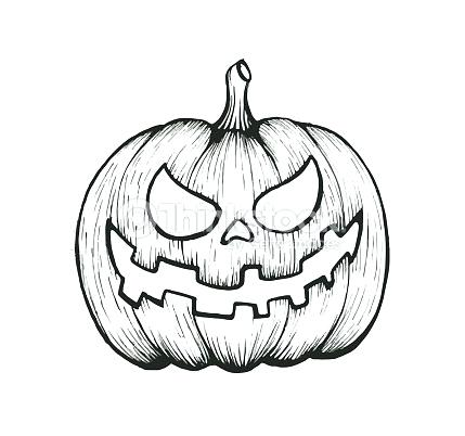 429x402 Halloween Pumpkins To Draw