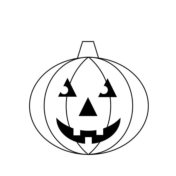 606x606 Jack O Lantern Easy To Draw Download Template Jack O Lantern