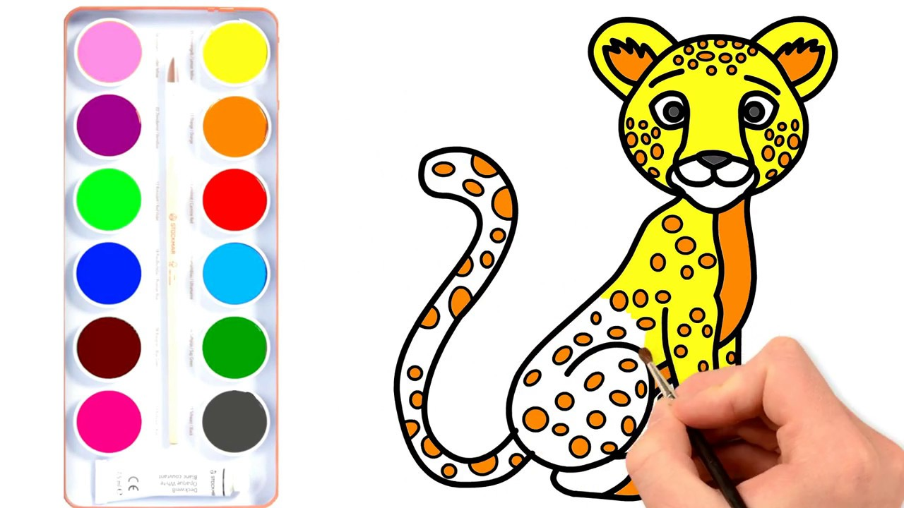 1280x720 Drawing And Coloring With Jaguar Coloring Pages Animal Learn
