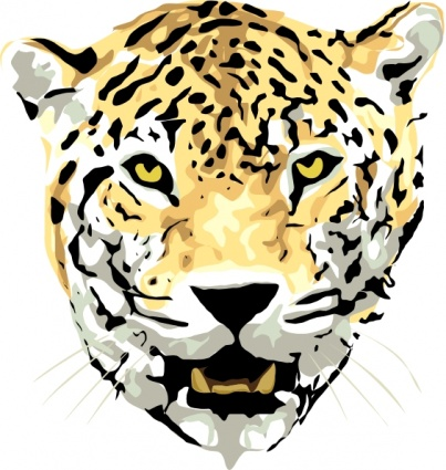 403x425 Free Download Of Cat Head Outline Drawing Face Cartoon Wild Jaguar