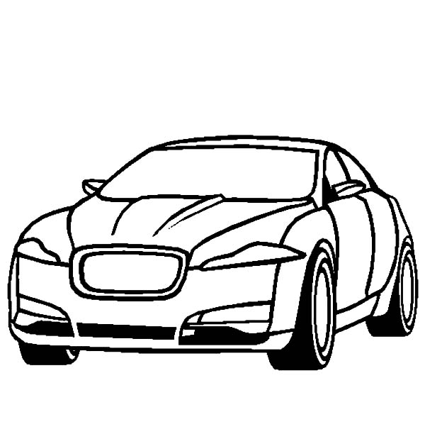Jaguar Car Drawing