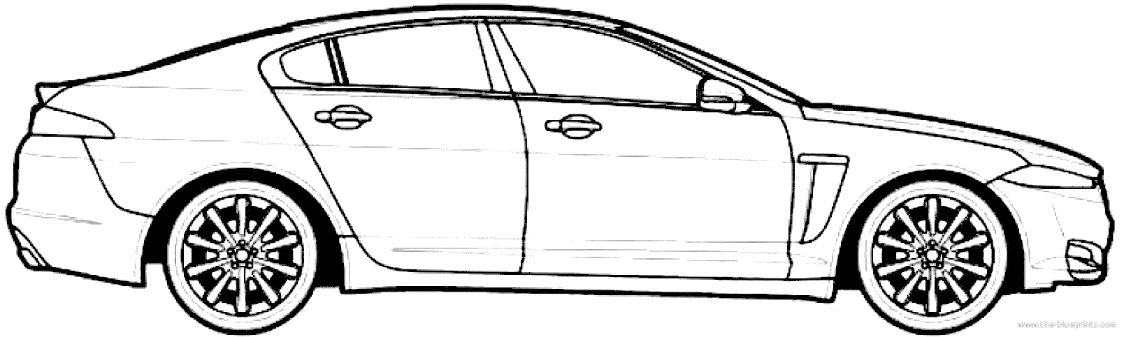 1608x483 Jaguar Car Drawing