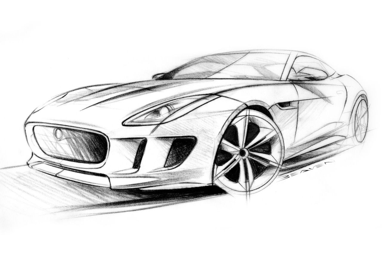 1280x851 Jaguar Ftype Concept Sketches Artwork Cars Car