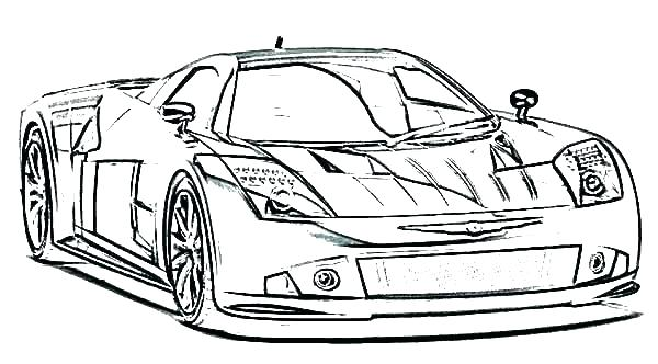 600x332 Coloring Pages Bmw Sports Car Coloring Pages Free Sport Drawing