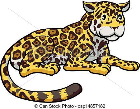 450x353 Cartoon Jaguar Cat An Illustration Of A Happy Cute Cartoon Jaguar
