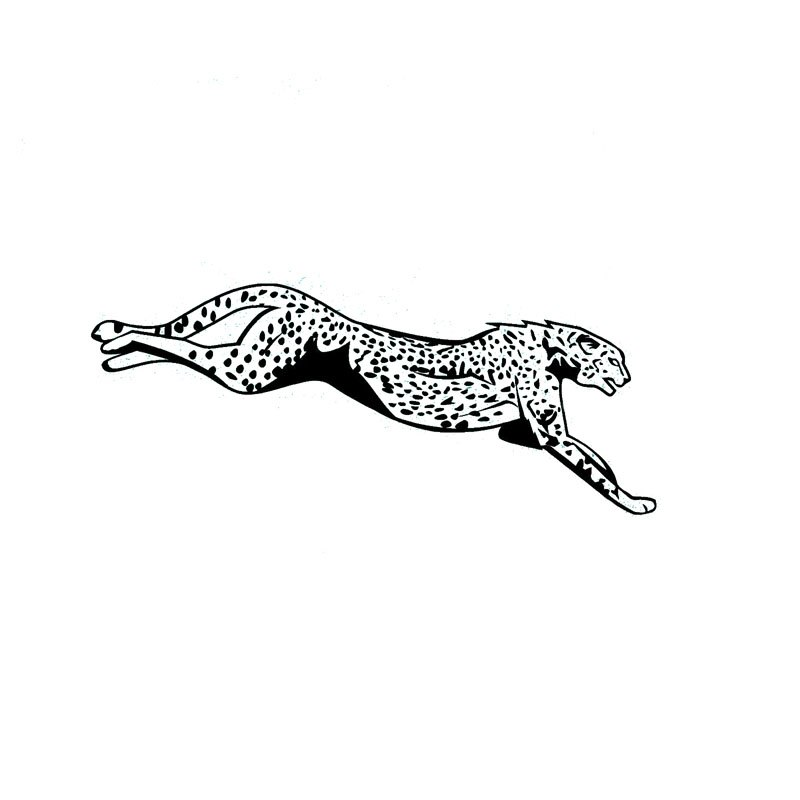 800x800 Jaguar Drawing Decal For Free Download