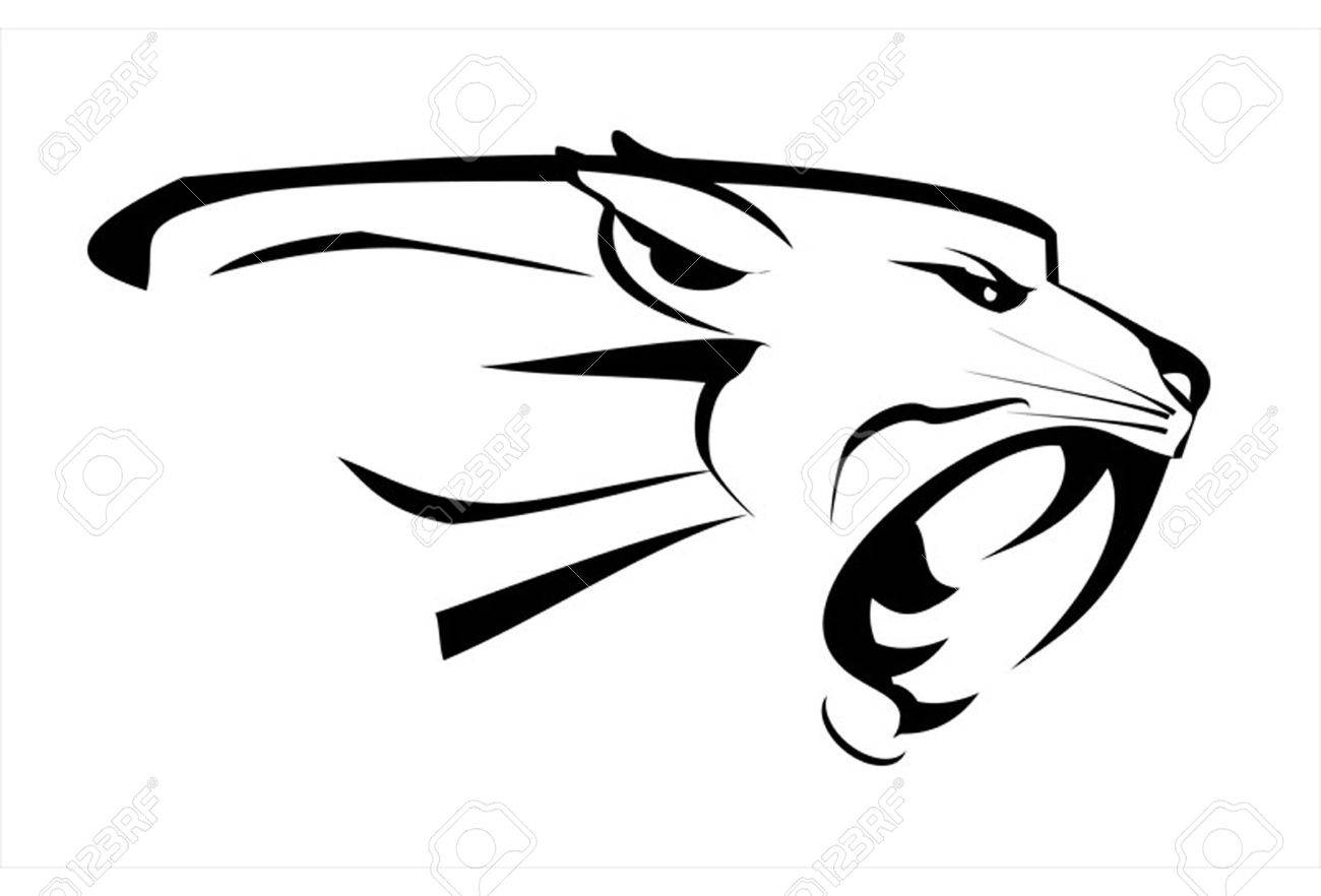 1300x882 Jaguar Face Clipart Black And White