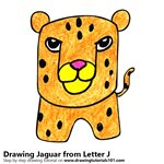 150x150 Learn How To Draw A Jaguar From Letter J