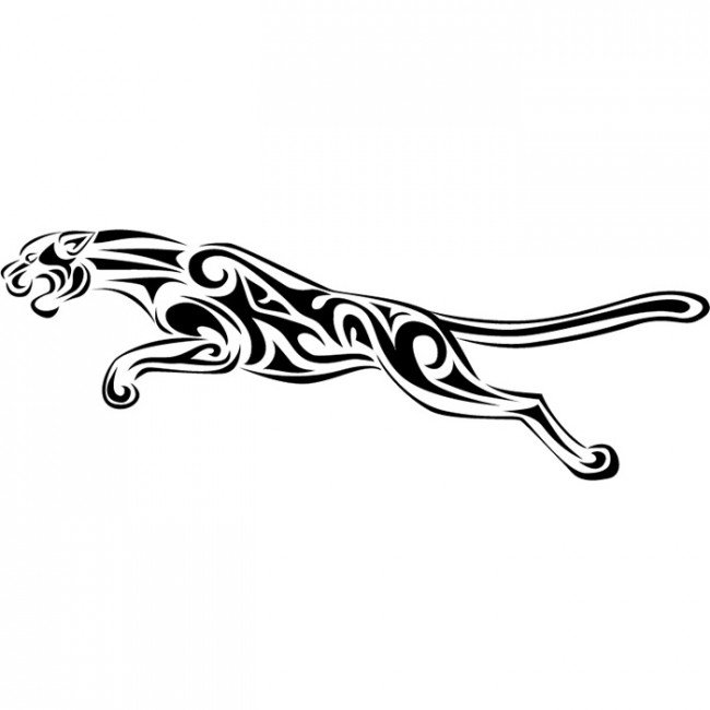 650x650 Jaguar Drawing Sticker For Free Download