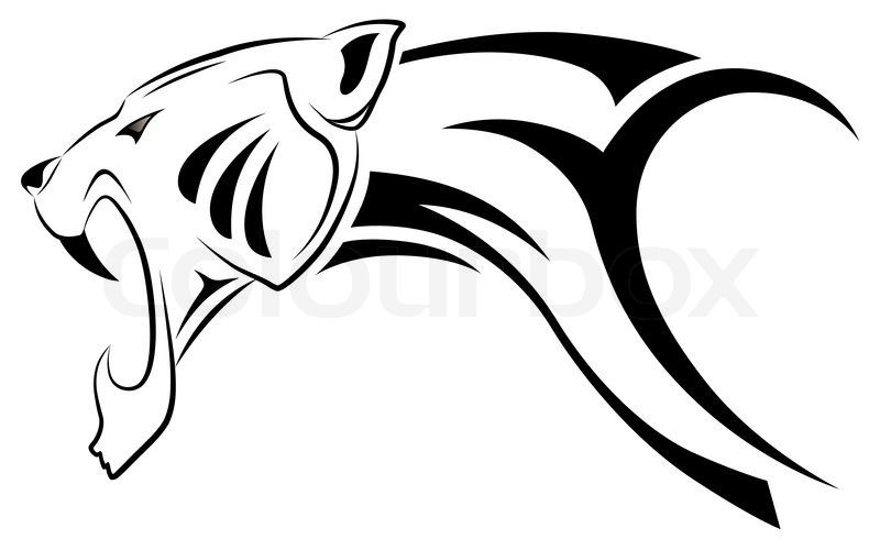 800x500 Jaguar Drawing Sign For Free Download