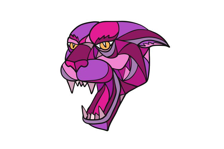 750x500 Jaguar Angry Head Mosaic Color