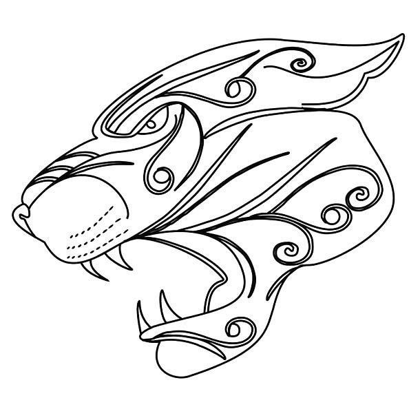 610x610 Jaguar Head Tattoo Design
