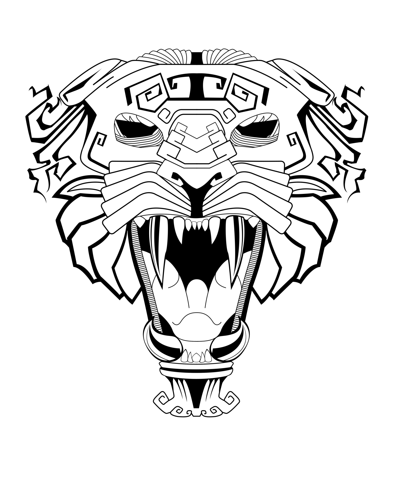 1280x1581 Jaguar Drawing Aztec For Free Download