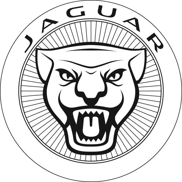 710x710 Colorless Jaguar Head In Lettered Circle Frame Tattoo Design