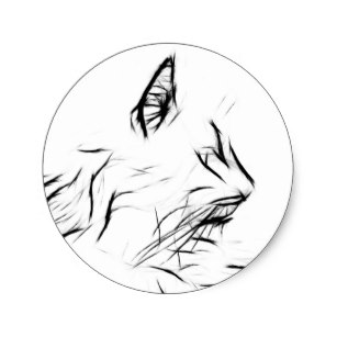 307x307 Cat Outline Drawing Gifts On Zazzle